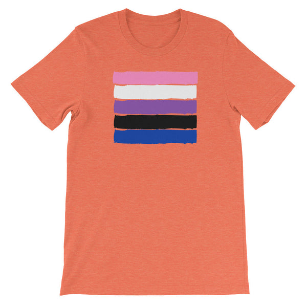 Gender Fluid Flag Adult Tee