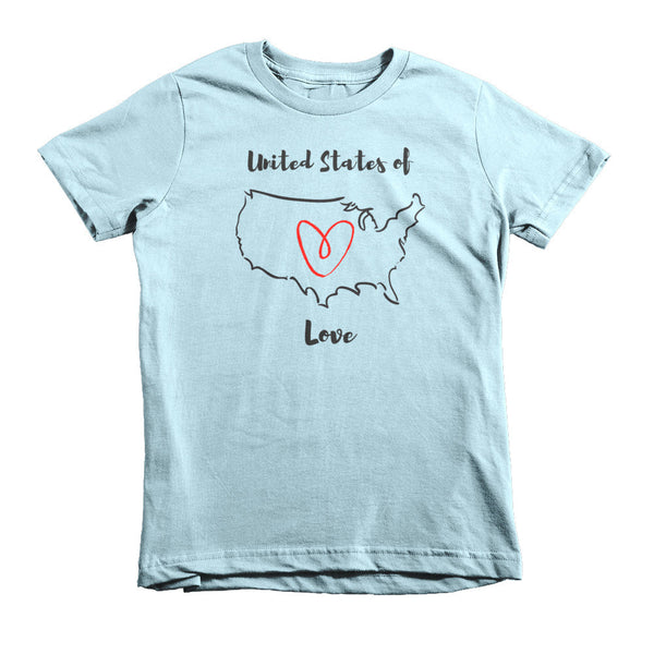 Gender Neutral United States of Love Tee  - Gender Bender Kids