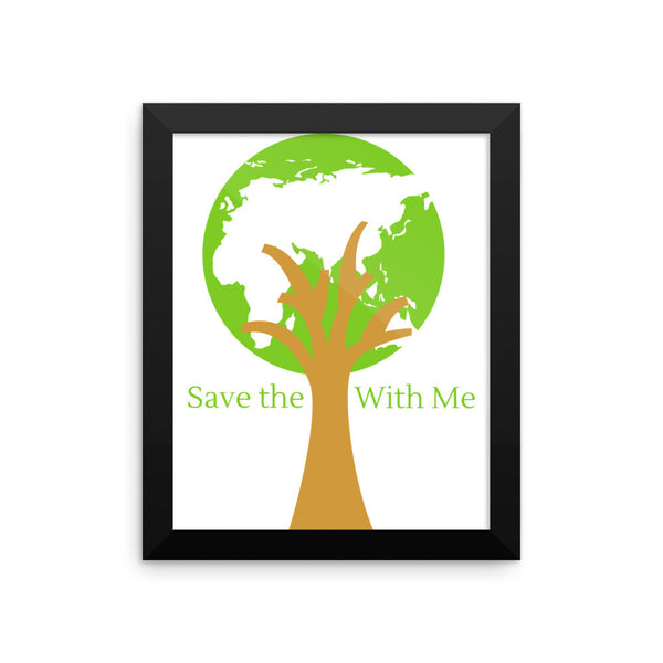Gender Neutral Saved The Planet Framed Poster  - Gender Bender Kids