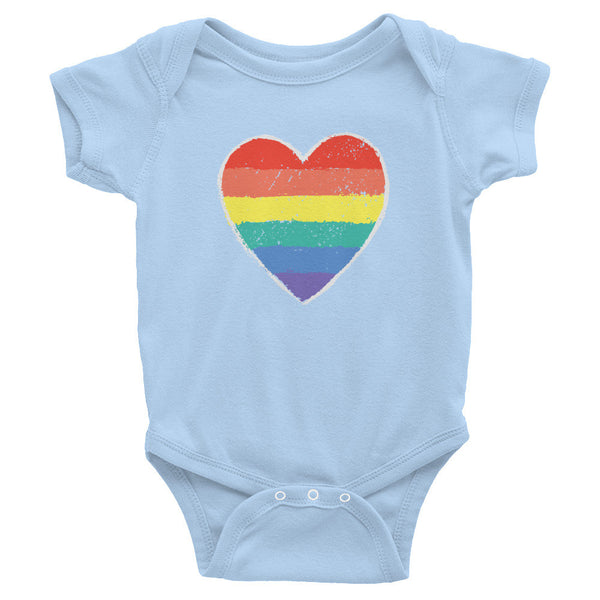 Gender Neutral Rainbow Love Onesie  - Gender Bender Kids