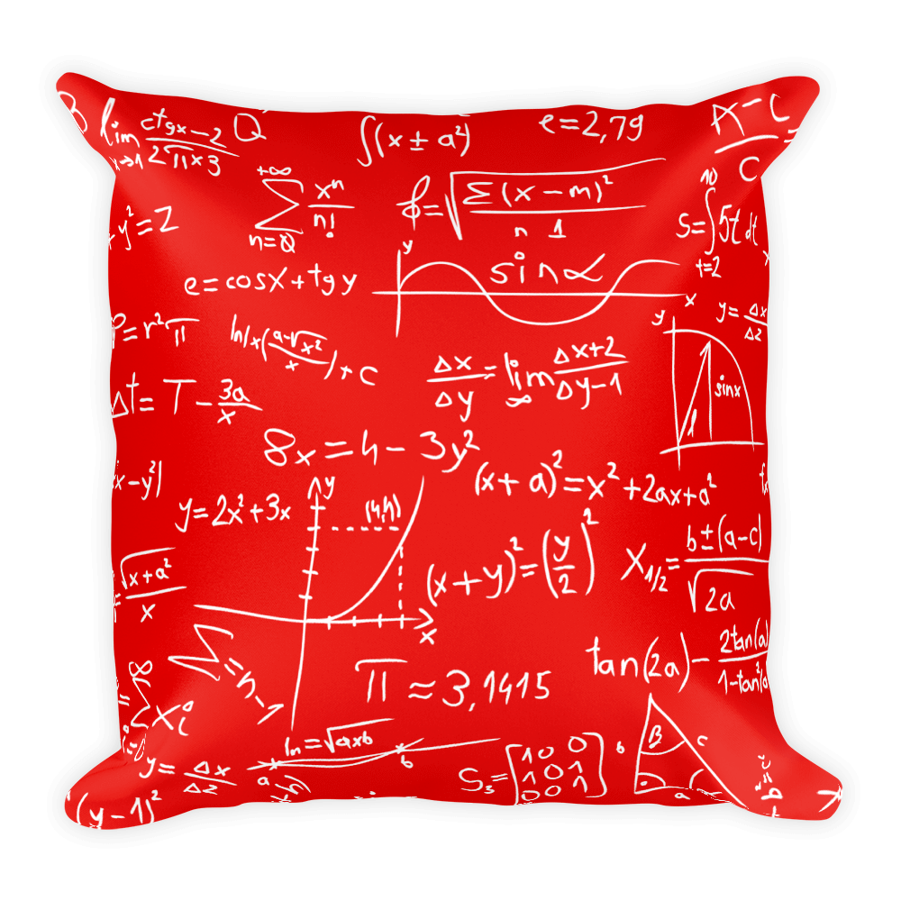 Gender Neutral Mathematician Square Pillow  - Gender Bender Kids