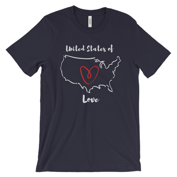 Gender Neutral United States of Love Adult Tee  - Gender Bender Kids