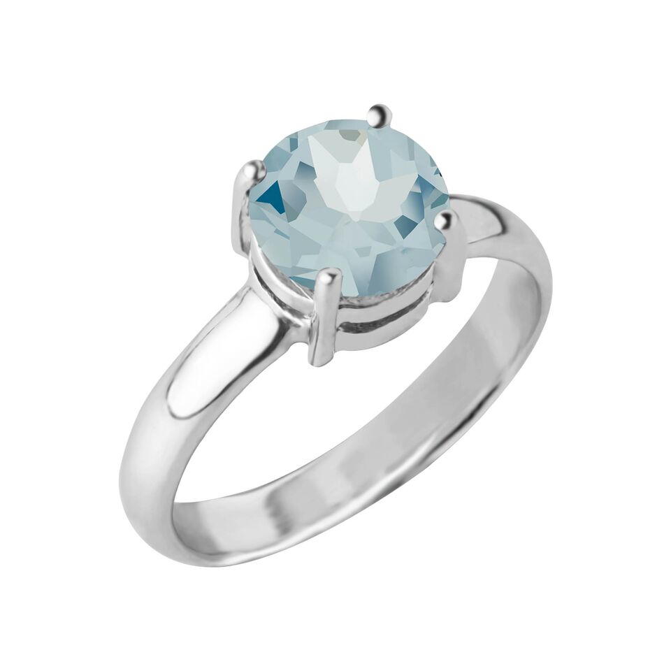 Reine Gemstone Ring, Blue Topaz