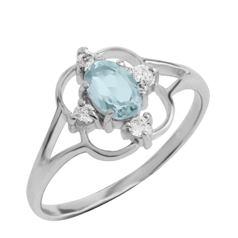 Asteria Gemstone Ring, Blue Topaz