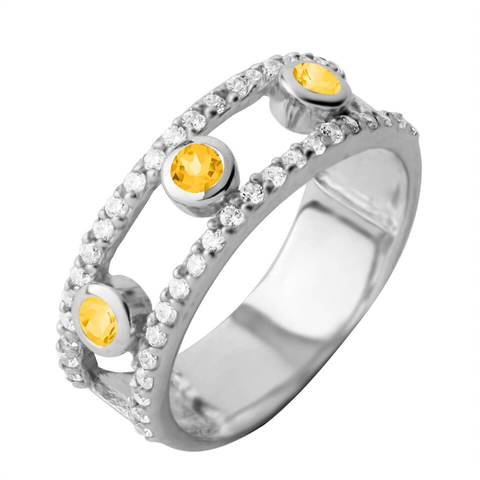 Gemstone Layer Ring, Citrine