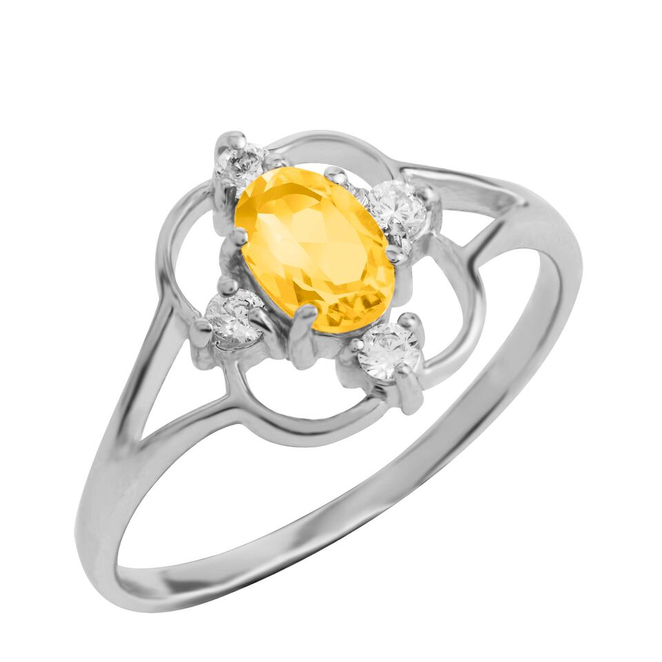 Asteria Gemstone Ring, Citrine
