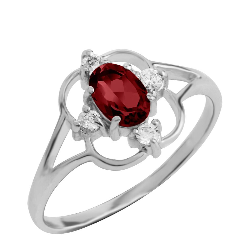 Asteria Gemstone Ring, Garnet