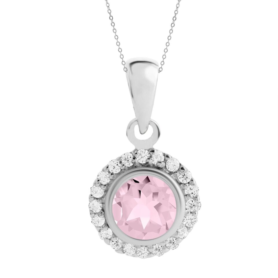 Asteria Gemstone Pendant, Rose Quartz