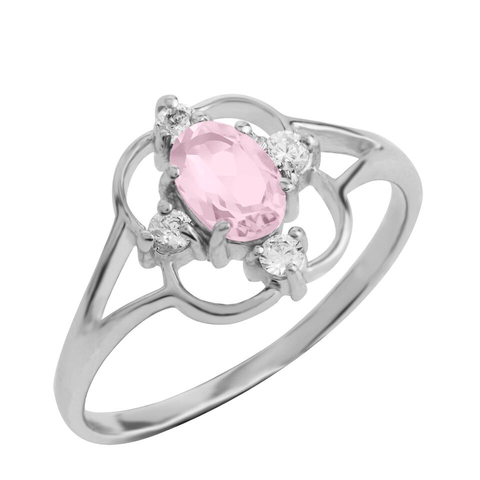 Asteria Gemstone Ring, Rose Quartz