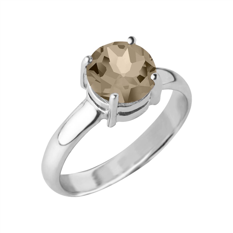 Reine Gemstone Ring, Smokey Topaz