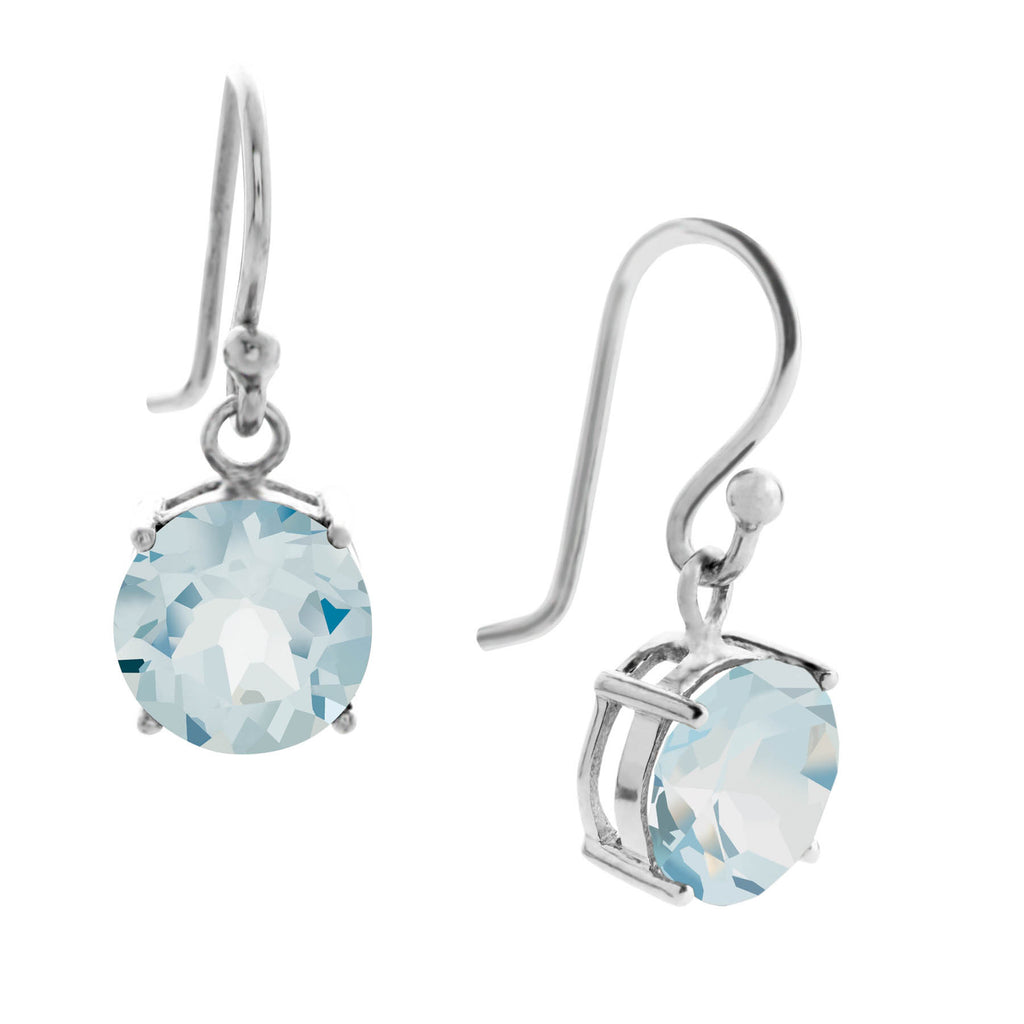 Gemstone Drop Earrings, Blue Topaz