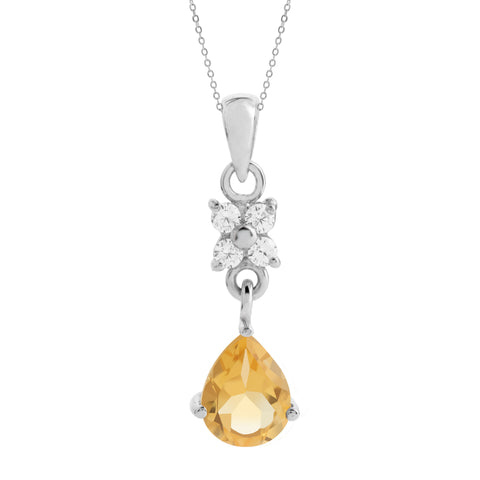 Pear Drop Pendant, Citrine