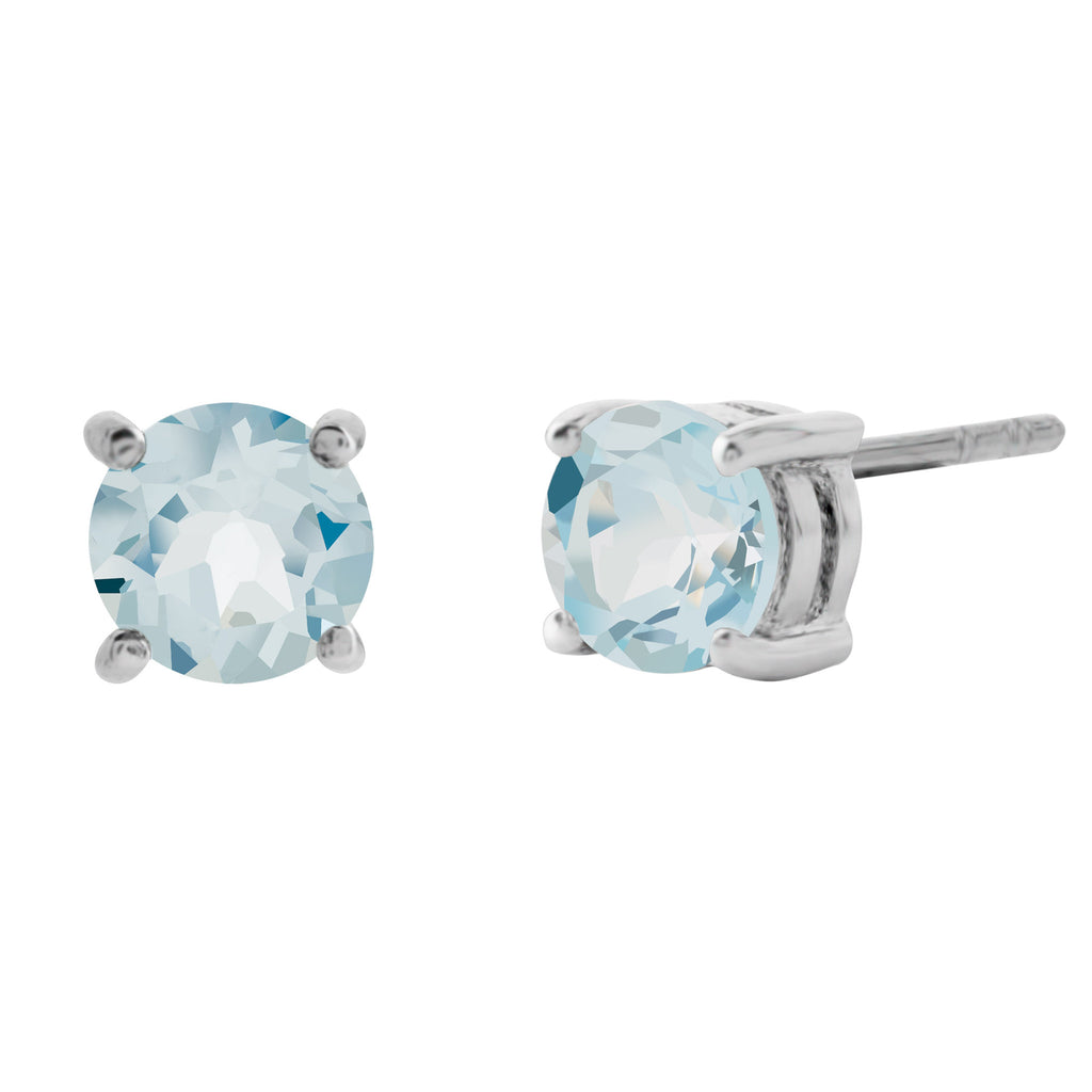 Stunning Gemstone Stud Earrings, Blue Topaz
