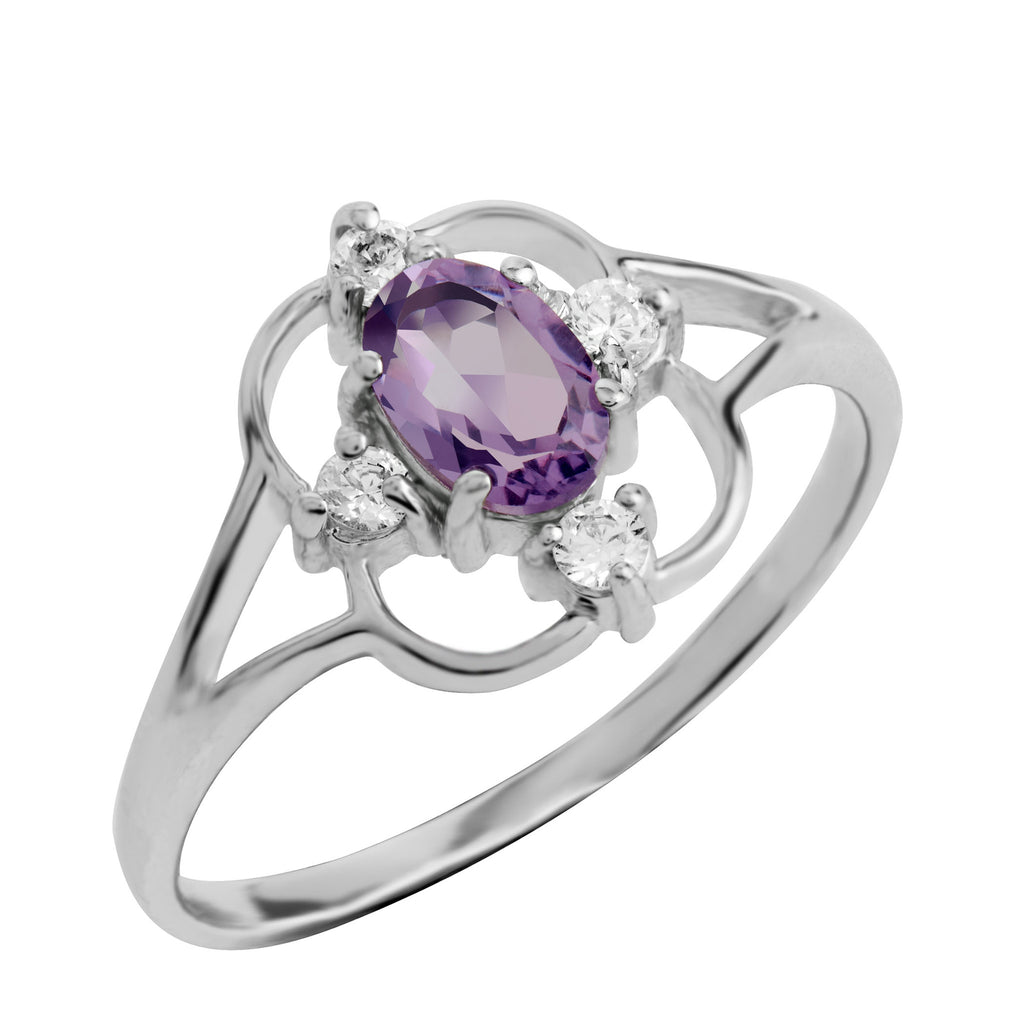 Asteria Gemstone Ring, Amethyst
