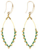 Earrings: Jane Kelly Green - Marquet (J)