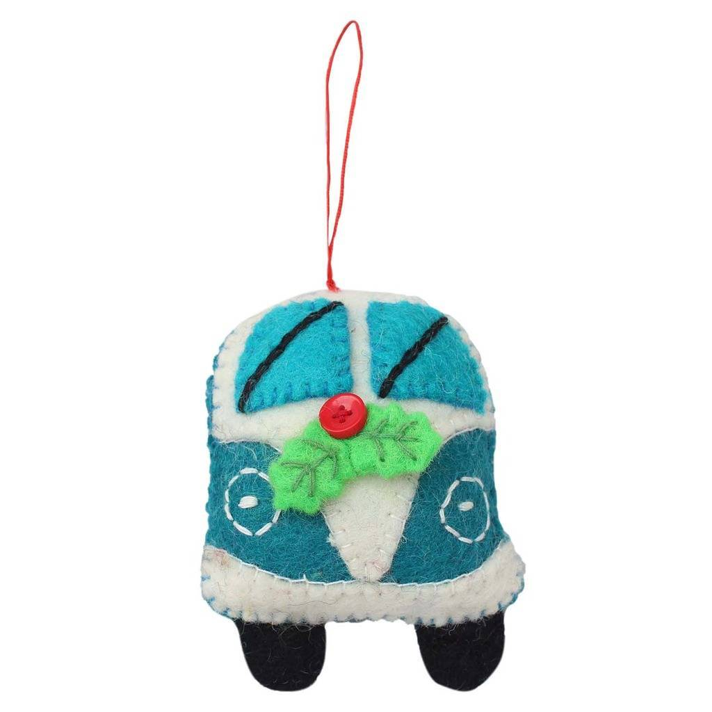 Turquoise Van Felt Ornament - Global Groove (H)