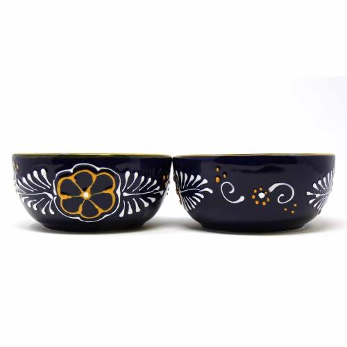 Half Moon Bowls - Blue, Set of Two - Encantada