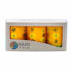 Hand Painted Candles in Yellow Masika Design (box of three) - Nobunto