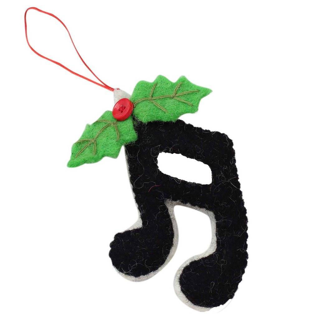 Sixteenth Notes Felt Ornament - Global Groove (H)