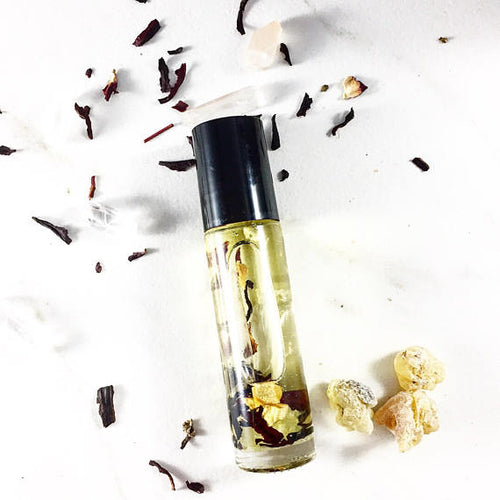 Essential Oil Blend with Crystals Frankincense and