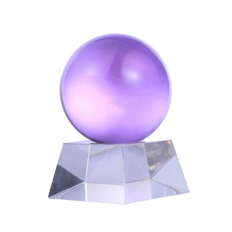 Mystikaly Purple Genuine Amethyst Crystal Ball with Stand