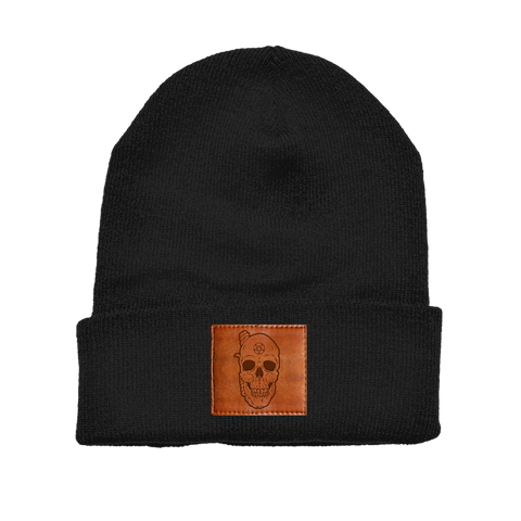 SPITE - Leather Patch Beanie
