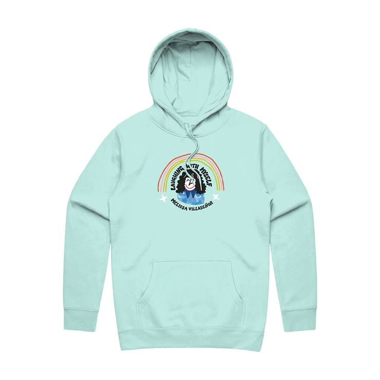 Laughing With Myself Podcast Mint Hoodie