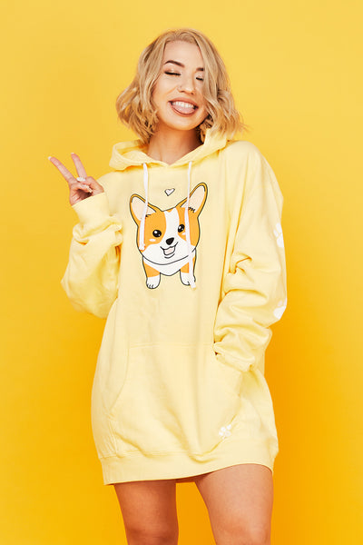 Ken The Corgi Yellow Hoodie