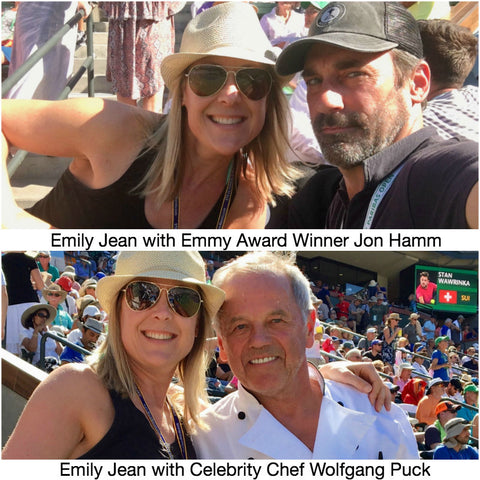 Emily Jean with Celebrity Chef Wolfgang Puck and Emmy Award Winner Jon Hamm