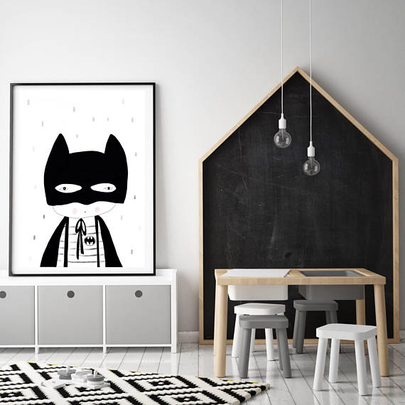 bebatman-kidsprint-myhiddenforest-childrensdecor-faithlaine