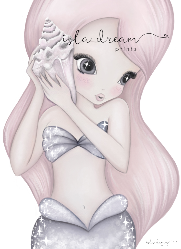 coral-mermaid-print-isla-dreams-faith-laine-childrens-decor