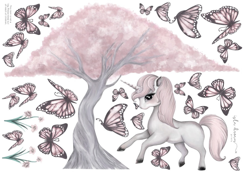 rose-unicorn-wall-decal-isla-dreams-faith-laine-childrens-decor