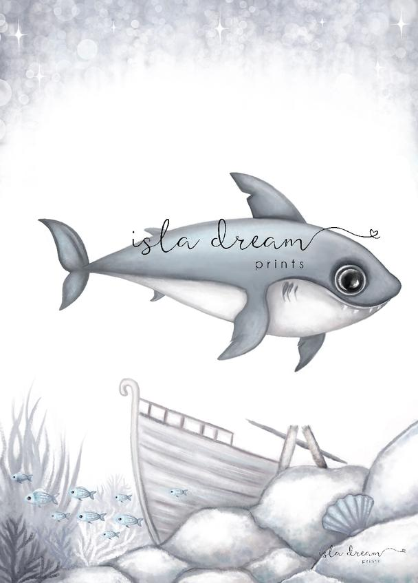 brutus-shark-print-isla-dream-prints-boys-nursery-art-faith-laine
