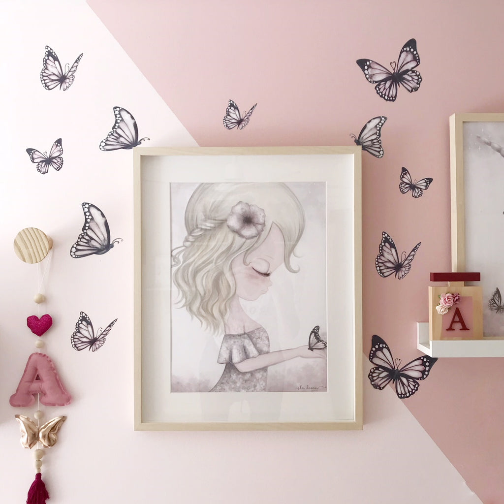 Ava & Butterfly Print