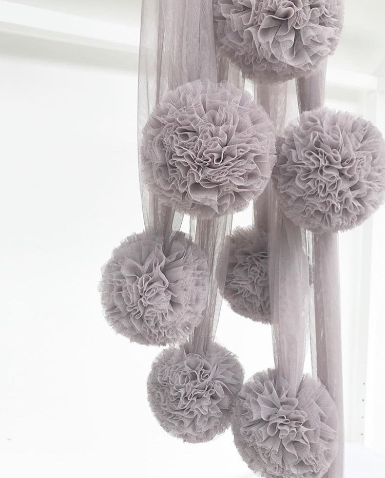Spinkie Pom Garland - Grey