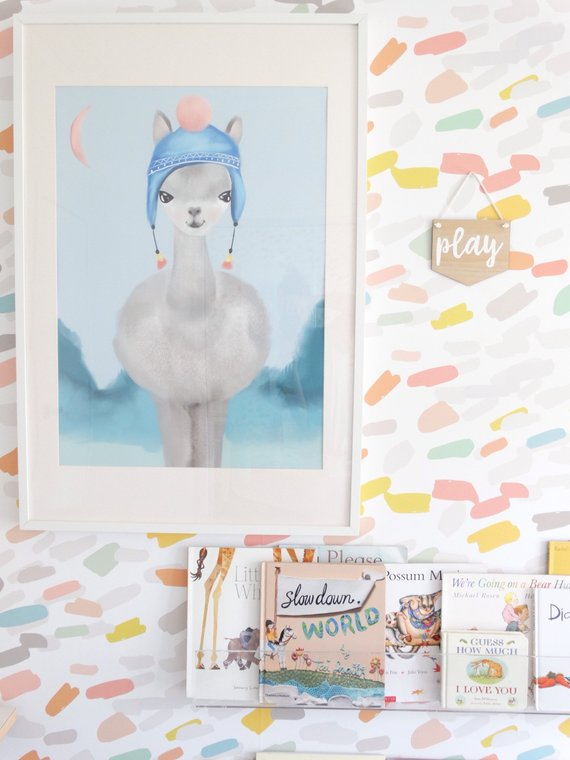 lenny-llama-my-hidden-forest-kids-prints-faith-laine