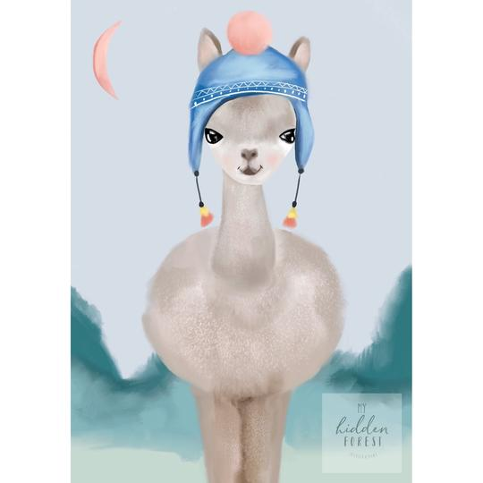 lenny-llama-print-my-hidden-forest-kids-print-faith-laine