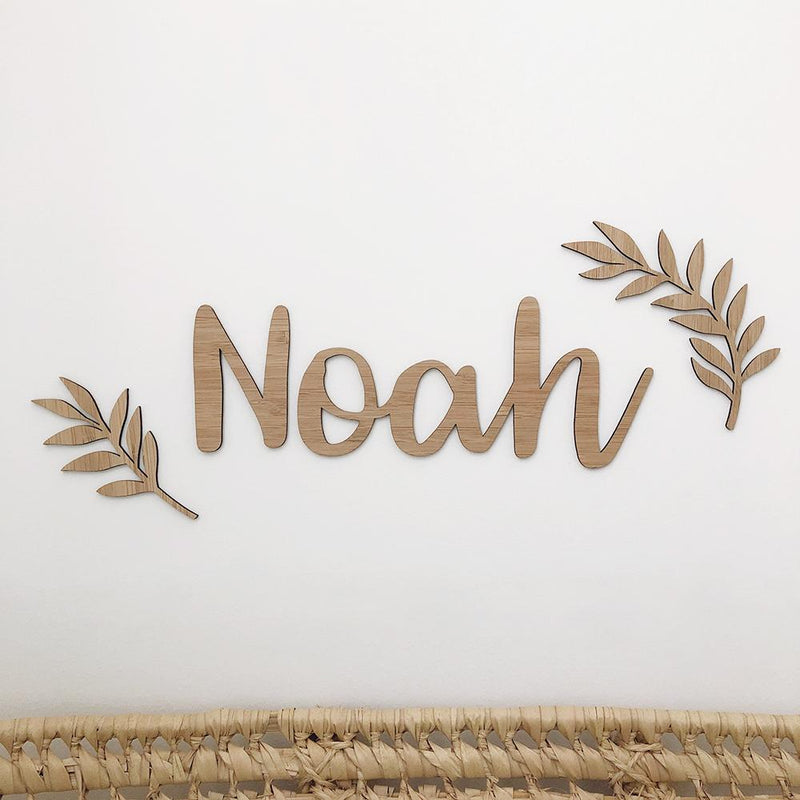 name-plaque-add-ons-bamboo-leaves-faith-laine-personalised-decor