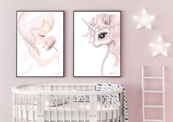rosa-unicorn-crysta-fairy-print-isla-dream-prints-nursery-art-faith-laine