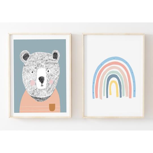 teddybear-pastel-my-hidden-forest-kids-prints-faith-laine
