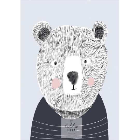 teddy-bear-print-myhiddenforest-nursery-print-faithlaine
