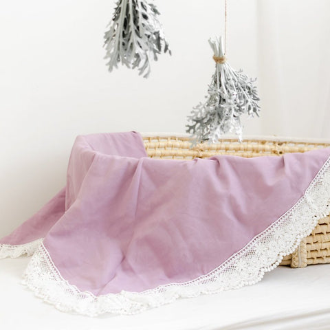 Dusty Pink Baby Blanket/Wrap
