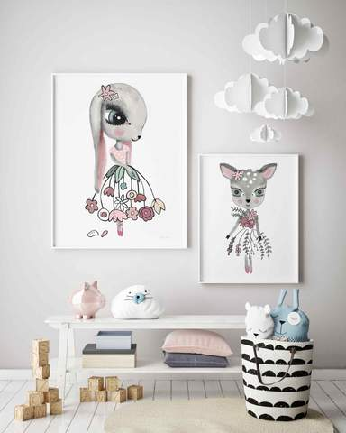 zamiah-rabbit-sailee-deer-print-sailah-lane-kidsart-faith-laine