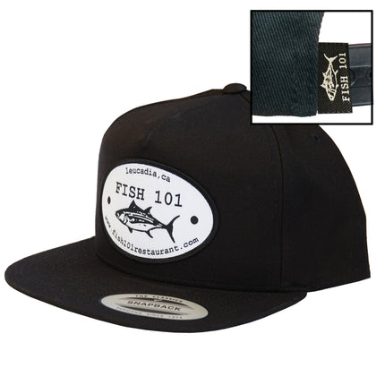 Fish 101 Black Oval Patch Lucky Hat