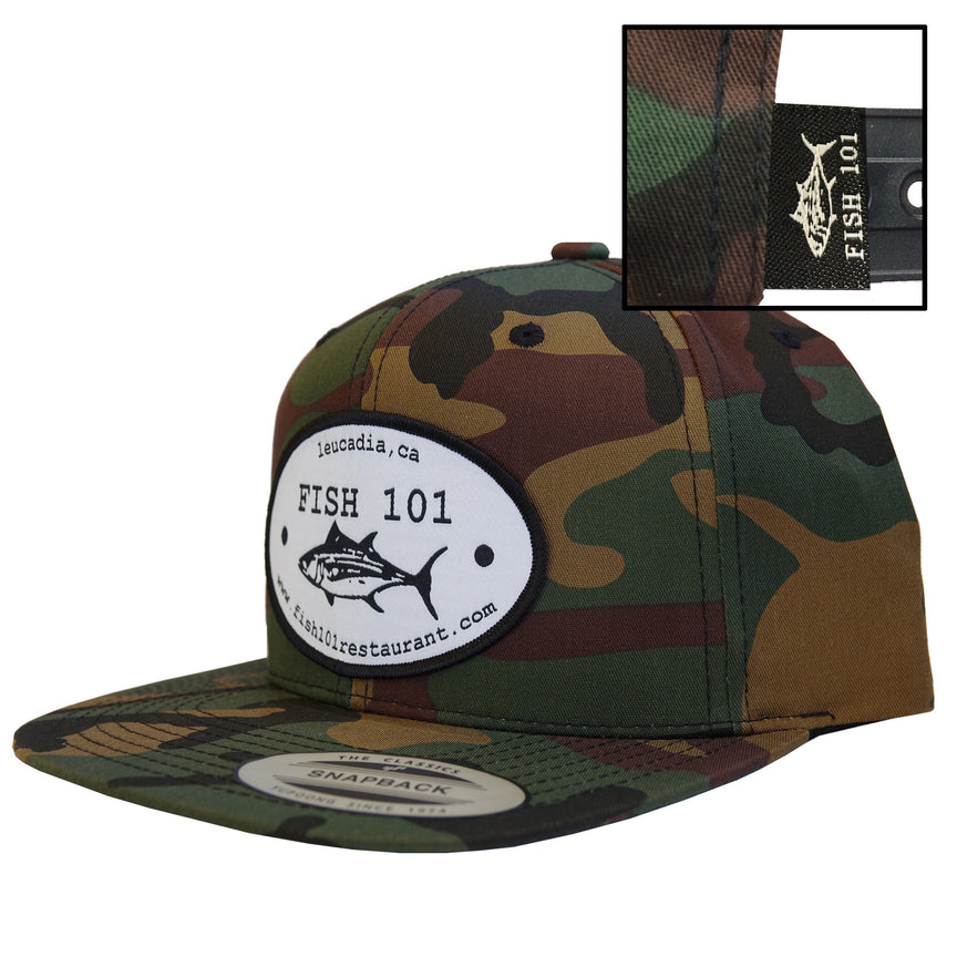 Fish101 CAMO Oval Patch Lucky Hat