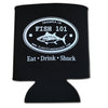 Fish 101 Koozie Black