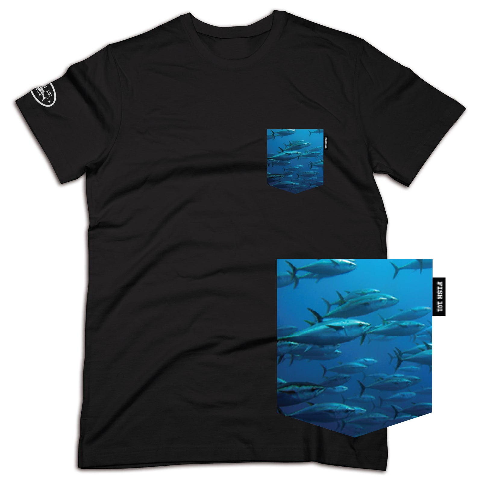 4869f03b Tuna Pocket Tee Black | Fish 101 Restaurant