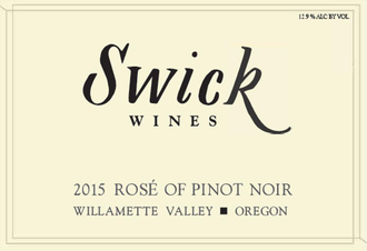 Swick Rosé of Pinot Noir 2018, Willamette Valley, Oregon
