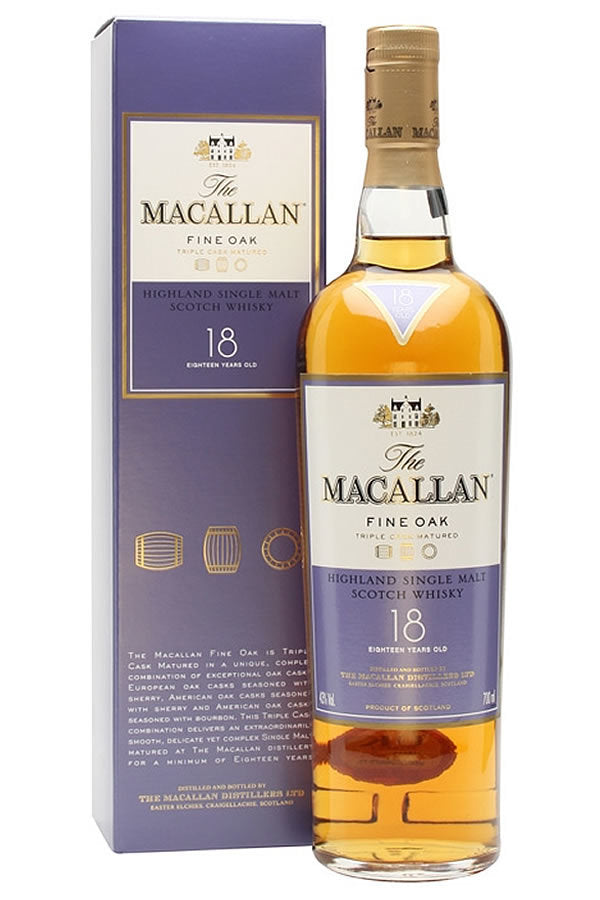 Macallan 18yr Fine Oak Single Malt Scotch