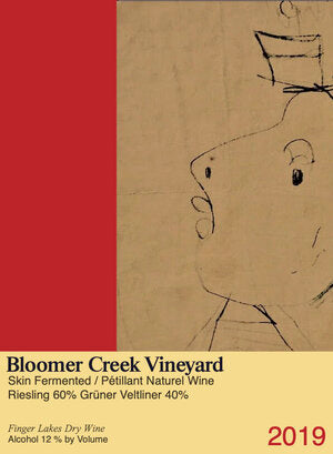 Bloomer Creek Skin-Fermented Riesling-Grüner Pet-Nat 2019, Finger Lakes, New York